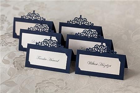 Segnaposto Matrimonio Blu.Bhands Targhette Segnaposto Per Matrimoni Colore Blu Navy 24