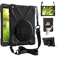 ZenRich iPad Air 1 case, iPad 9.7 Case 2013, 360 Rotating Kickstand Hand Strap & Shoulder Belt zenrich Shockproof Heavy…