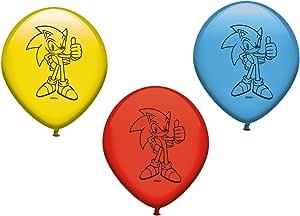Verbetena, 016001416, pack 8 globos sonic, pack 8 globos ...