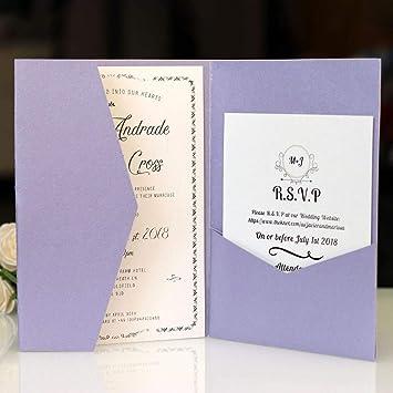 10 tarjetas de invitación de boda, tarjetas de invitación ...