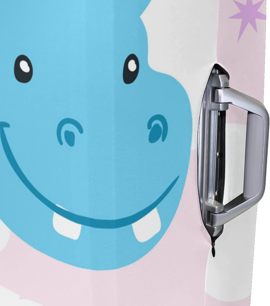 OREZI 3D Hippo Welcome Luggage Protector Suitcase Cover 18-32 Inch