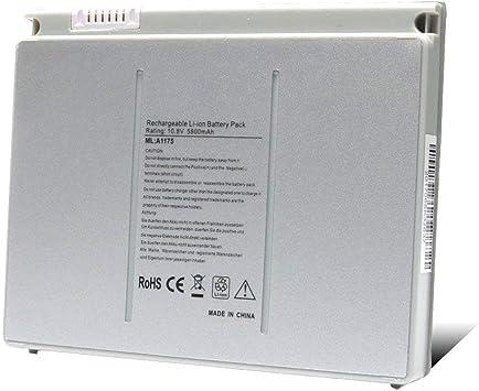 A1175 A1260 A1211 A1226 A1150 New Laptop Battery for Apple MacBook Pro 15 inch MA348 MA348//A MA348G//A MA348J//A Laptop Notebook Li-ion 5800mAh//68Wh 6Cell