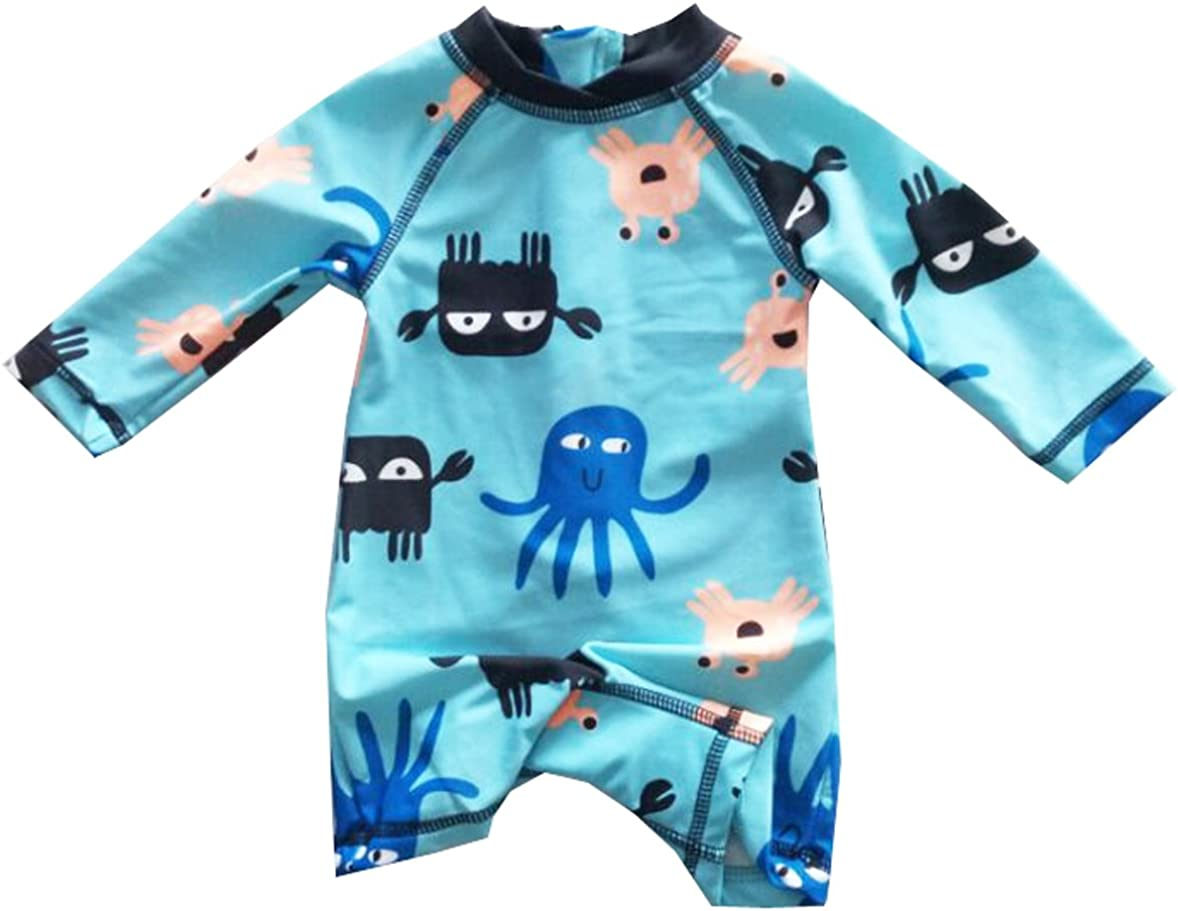 Sun Protection Infant Baby Boys Sunsuits Rash Guard Swimsuit Swimwear UPF 50