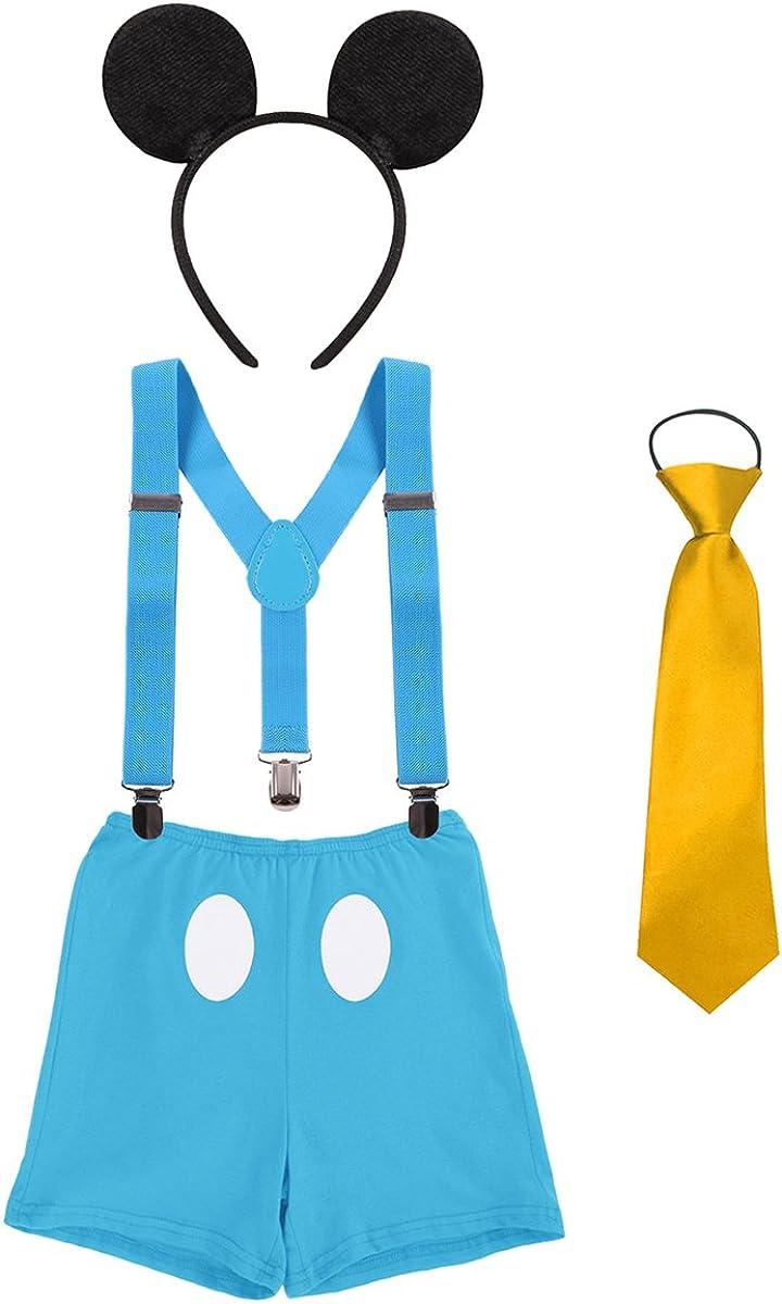 Disfraz de Mickey Infántil Bebé Niños Niñas Lindo Ratón 1er/2do ...