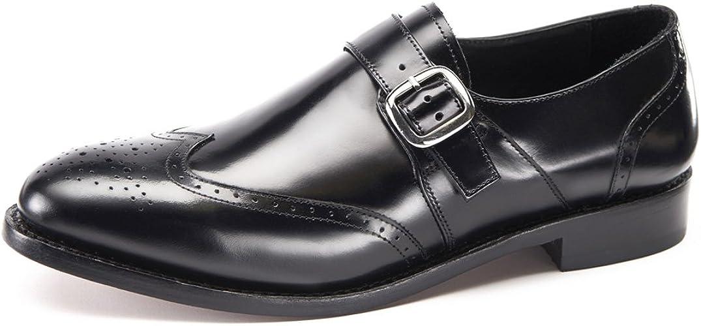 Handmade Mens Black formal monk Shoes Men leather shoes Men Black dress shoes