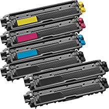 6 Inkfirst® Toner Cartridges TN221BK, TN221C TN225C, TN221M TN225M, TN221Y TN225Y Compatible Remanufactured for Brother TN-221 TN-221 Black, Cyan, Magenta, Yellow (1 Set + 2 Black) HL-3170CDW HL-3170CW HL-3140CW MFC-9130CW MFC-9330CDW MFC-9340CDW