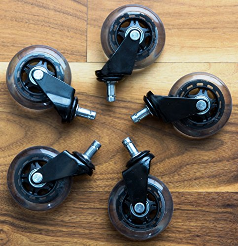OFFICE OWL OFFICE CHAIR WHEELS For Smart Home Offices Set Of 5 Heavy Duty