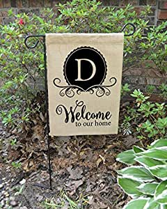 "Personalized Family Garden Flag - Monogram Garden Flag - Family Name - Outdoor Decor 12""X18"""