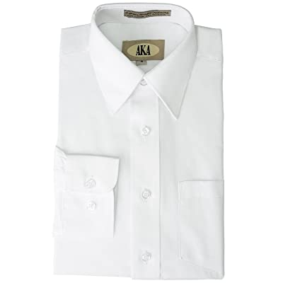 Aka Big Boys' White Husky Formal Dress Shirt for Communions, Proms & Weddings