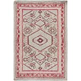 Surya Zahra ZHA-4007 Hand Knotted Classic Accent Rug, 2 by 3-Feet