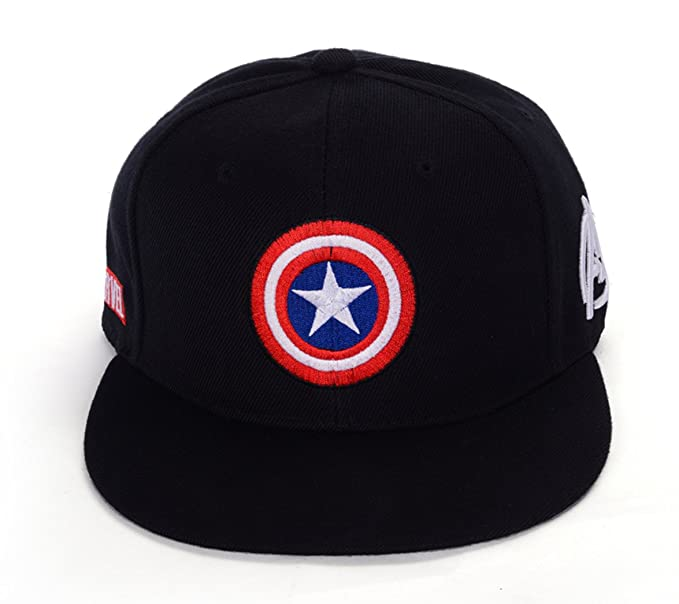 51f07a46ca660 REINDEAR Marvel Avengers Captain America Shield Hat Baseball Cap US Seller  (Black)