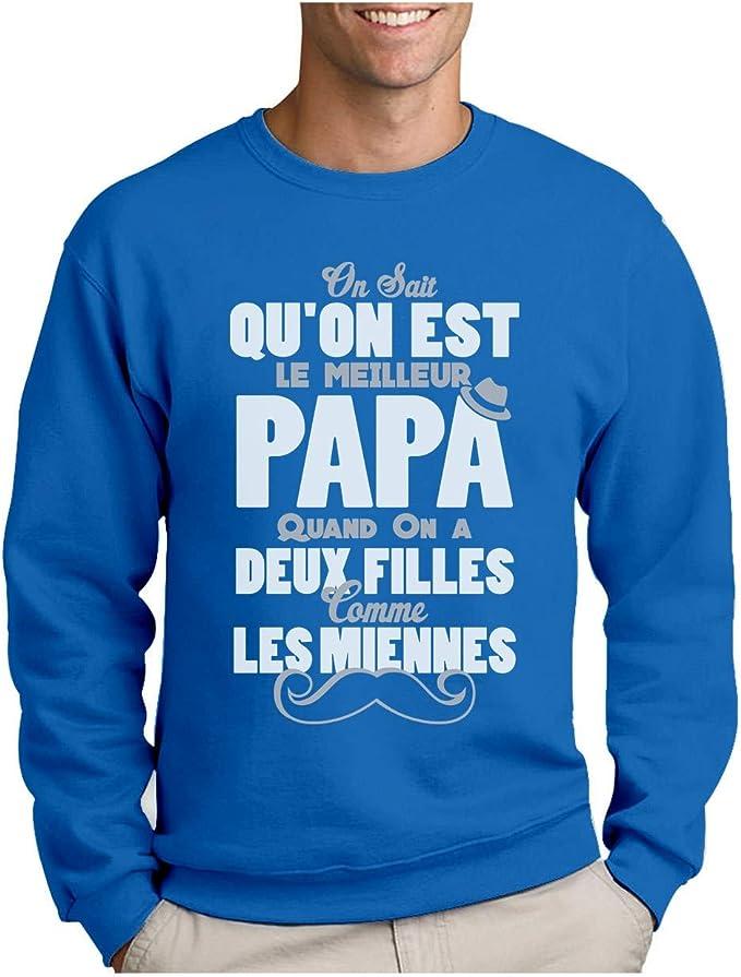 Green Turtle T Shirts Papa Avec Deux Filles Comme Les Miennes Sweatshirt Homme Amazon Fr Vetements Et Accessoires