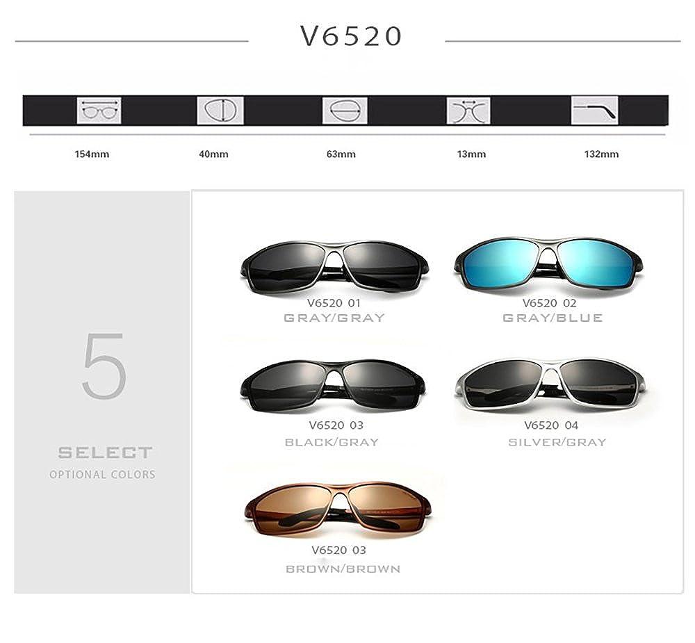VEITHDIA polarizadas gafas de sol deportivas 100% UV400 protección gafas de sol gafas accesorios para béisbol, Correr, Pesca, Ciclismo, Golf, ...