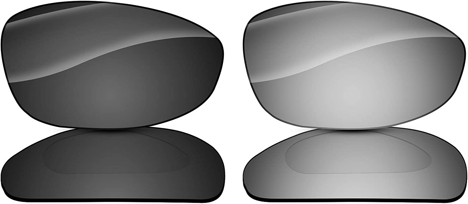 COOLENS 2 Pairs Polarized Replacement Lenses for Oakley Blender Sunglasses - Black&Titanium