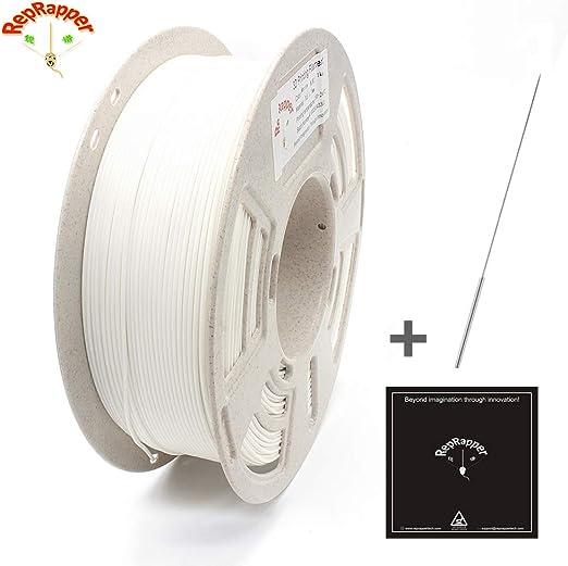 RepRapper1kg低反りABS3Dプリンターフィラメント1.75mmホワイト+印刷ビルド表面+ノズル洗浄針