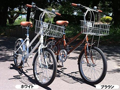 GRQ BasketMini 6段変速ギア シティバイク B014QXRNCO ホワイト ホワイト