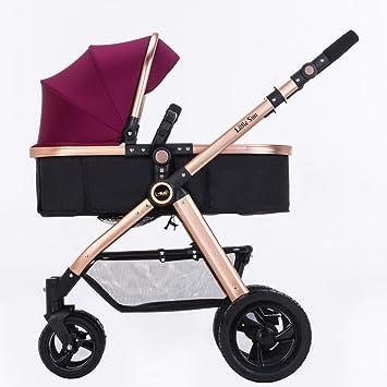 Carro de bebé Niño Cochecito de bebé de verano puede sentarse Mentira de dos vías cochecitos
