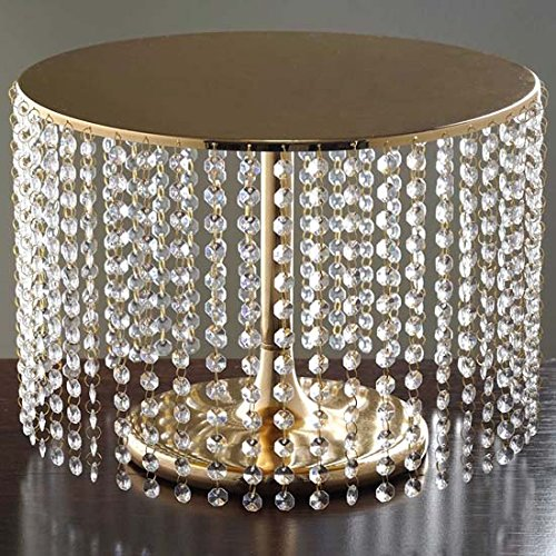 Tableclothsfactory Gold Crystal Pendants Metal Chandelier Wedding Cake Stand - 12