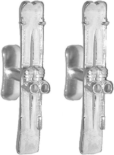 Silver high quality skier  paddleeboard cufflinks