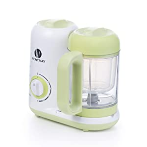 Ventray BabyGrow 300 Green - All-in-one Steamer and Blender Baby Food Maker - One-step Programmable Cooker Makes Food for Toddlers and Infants