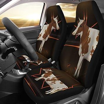 Super Amazon Com Ayrshire Cattle Cow Print Car Seat Covers Frankydiablos Diy Chair Ideas Frankydiabloscom