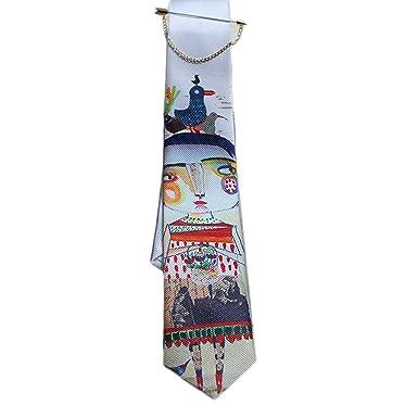 El Diseo De Casa Chica Hermosa Impresion Textil Corbata: Amazon.es ...