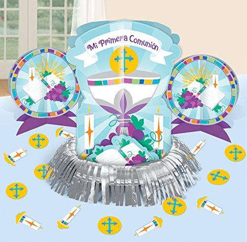 Amscan Mi Primera Comunion - Centro de Mesa, decoración (1)