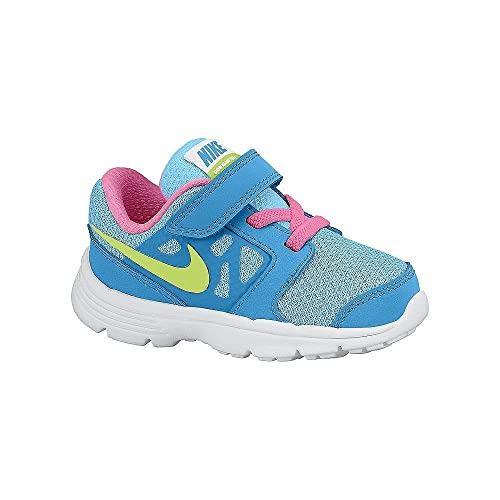 Nike Downshifter 6 (TD) - Zapatillas Unisex, Color Azul/Rosa/Amarillo/Blanco, Talla 21