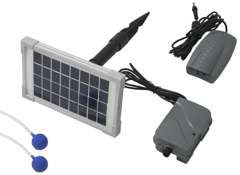 Woodside - Oxygénateur solaire 3 en 1 pour bassin - batterie de secours/2 pierres à air