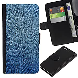 All Phone Most Case / Oferta Especial Cáscara Funda de cuero Monedero Cubierta de proteccion Caso / Wallet Case for Apple Iphone 6 // Sand Drawing Sturcture Pattern Blue Sea