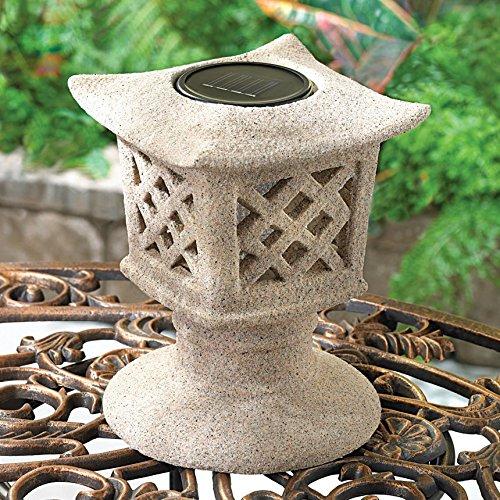 Solar Ceramic Pagoda Garden Light