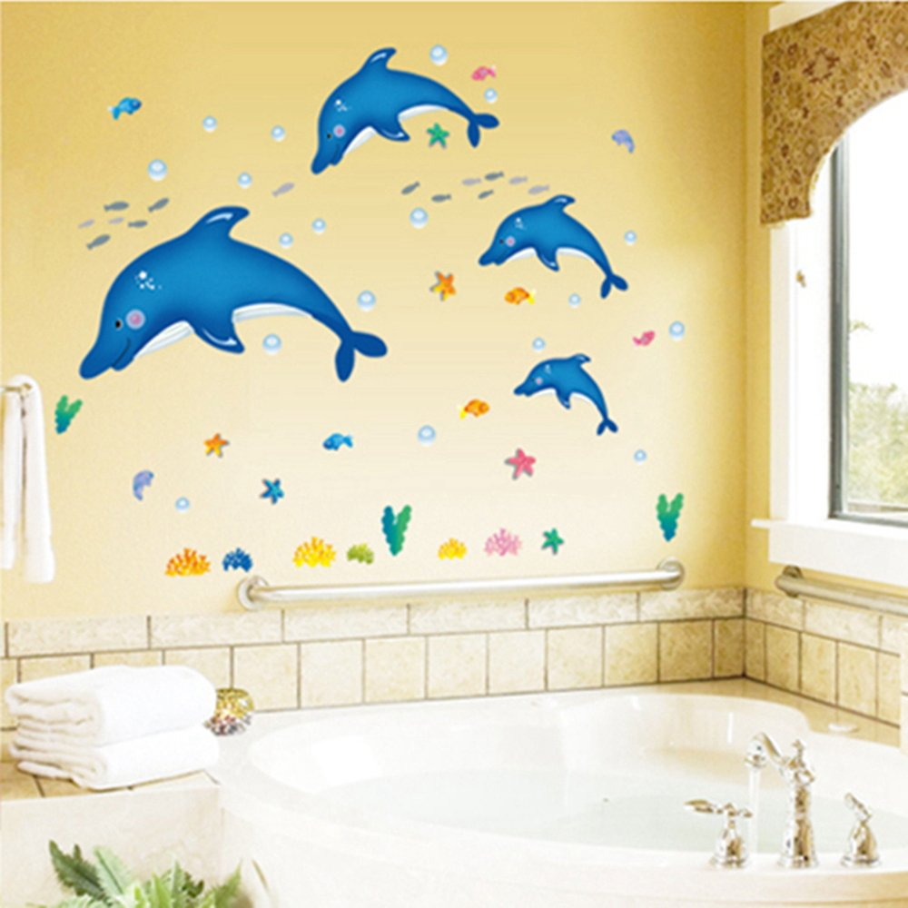 Wall dcor kids room dcor home dcor dolphin wall decal wall sticker home decor amipublicfo Image collections