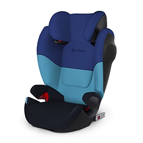 Cybex Silla de coche grupo 2/3, Solution M-Fix SL, Para coches con y sin Isofix, Grupo 2/3 (15-36 kg), Desde los 3 hasta los 12 años, Azul (Blue Moon)