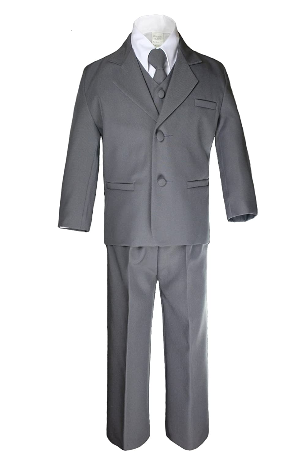 Unotux Formal Boys Dark Gray Suits From Baby to Teen 2T