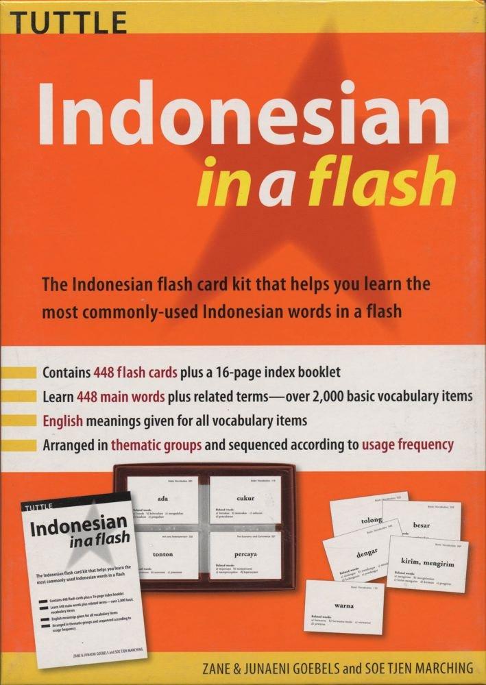 Indonesian in a Flash Kit Volume 1 (Tuttle Flash Cards): Zane Goebel ...