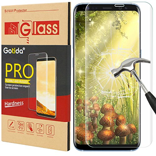 Galaxy S8 Screen Protector,Samsung Galaxy S8 Screen Protector,Gotida Galaxy S8 Tempered Glass film Full Coverage HD Clear for Galaxy S8