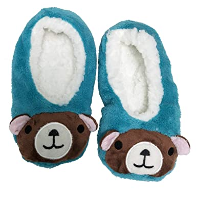 8ad2059fa1f Amazon.com  Mashed Clothing Fun Animals Women s Adults Older Kids Soft Furry  Slippers With Non-Skid Soles  Clothing