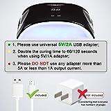 LED UV Nail Lamp Light with Timer Auto-sensor J721