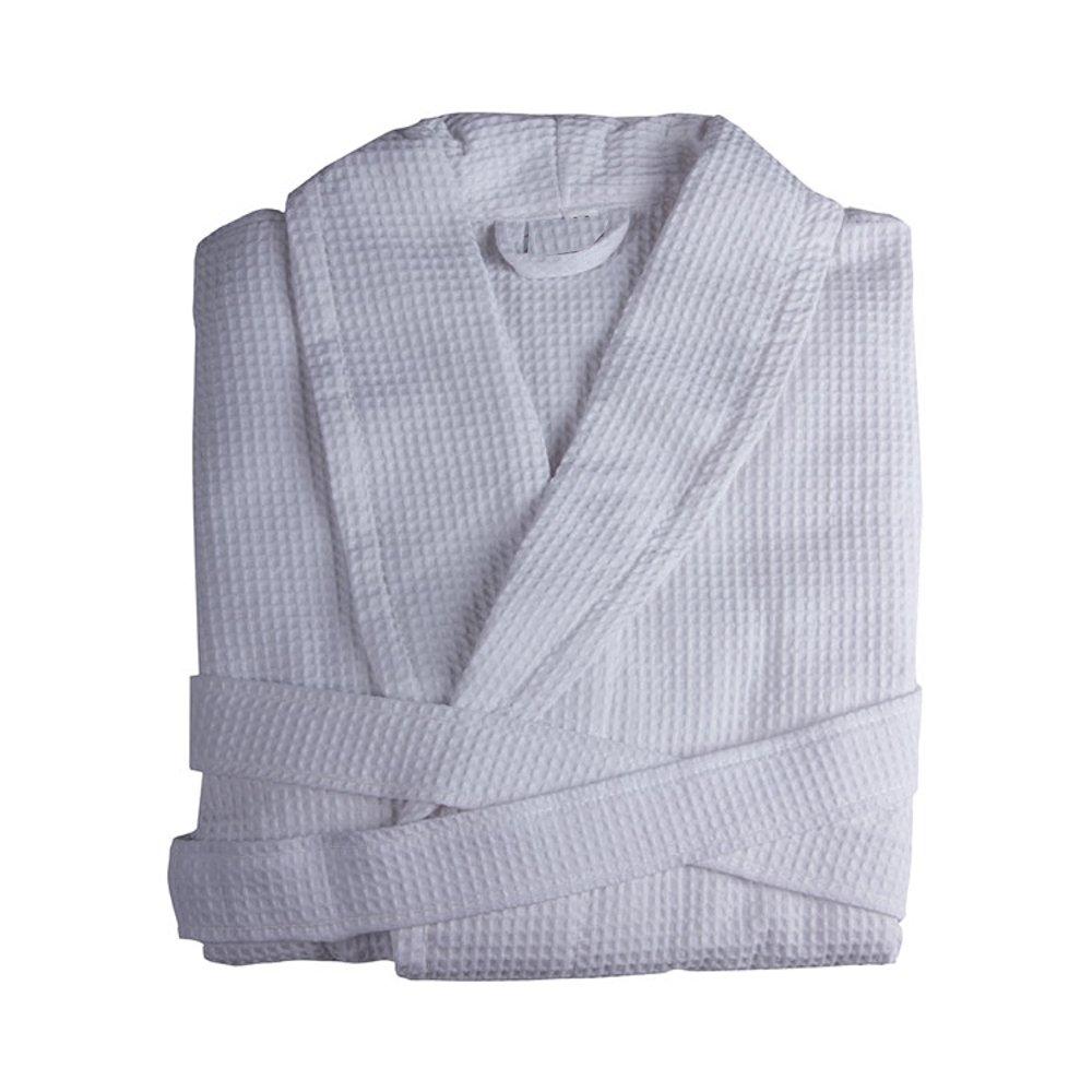 Albornoces de baño de Algodón tejidos en forma Nido de Abeja - Albornoces ligeros (Talla L): Amazon.es: Hogar
