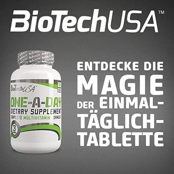 Bio Tech USA One a Day 100 pastillas, pack individual (1 x 170 g).: Amazon.es: Salud y cuidado personal