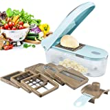 Multi Vegetable-Fruit-Cheese-Onion Chopper-Dicer-Kitchen Cutter Spiralizer Vegetable Slicer 8 Blades Excellent Kitchen…