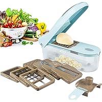 Multi Vegetable-Fruit-Cheese-Onion Chopper-Dicer-Kitchen Cutter Spiralizer Vegetable Slicer 8 Blades Excellent Kitchen Helper