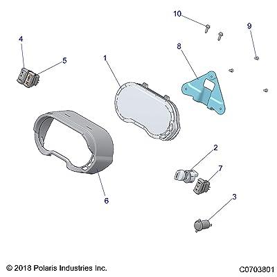 Polaris 4 Position Ignition Key Switch With Key, Genuine OEM Part 4016058, Qty 1: Automotive