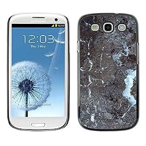 MOBMART Carcasa Funda Case Cover Armor Shell PARA Samsung Galaxy S3 - Cracked Grey Floor Pattern