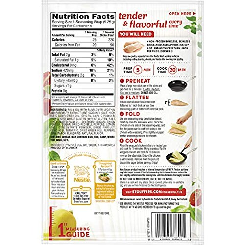 Stouffer's Seasoning Wraps Lemon Pepper (4 Pack), 0.74 oz