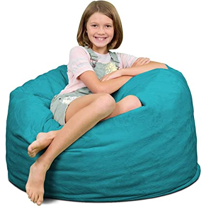 Pictures On Giant Turquoise Bean Bag Onthecornerstone