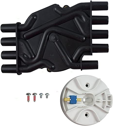 Ignition Distributor Cap /& Rotor Kit Replacement for Cadillac Chevrolet GMC Pickup Truck SUV Van 10452459 AutoAndArt