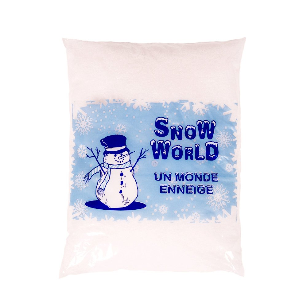 Artificial Powder Snow, A White World, approx. 3 litre - Decorative Snow Indoor/Outdoor for Christmas and Winter Decoration - Fake Snow for Brightening up your home Artecsis