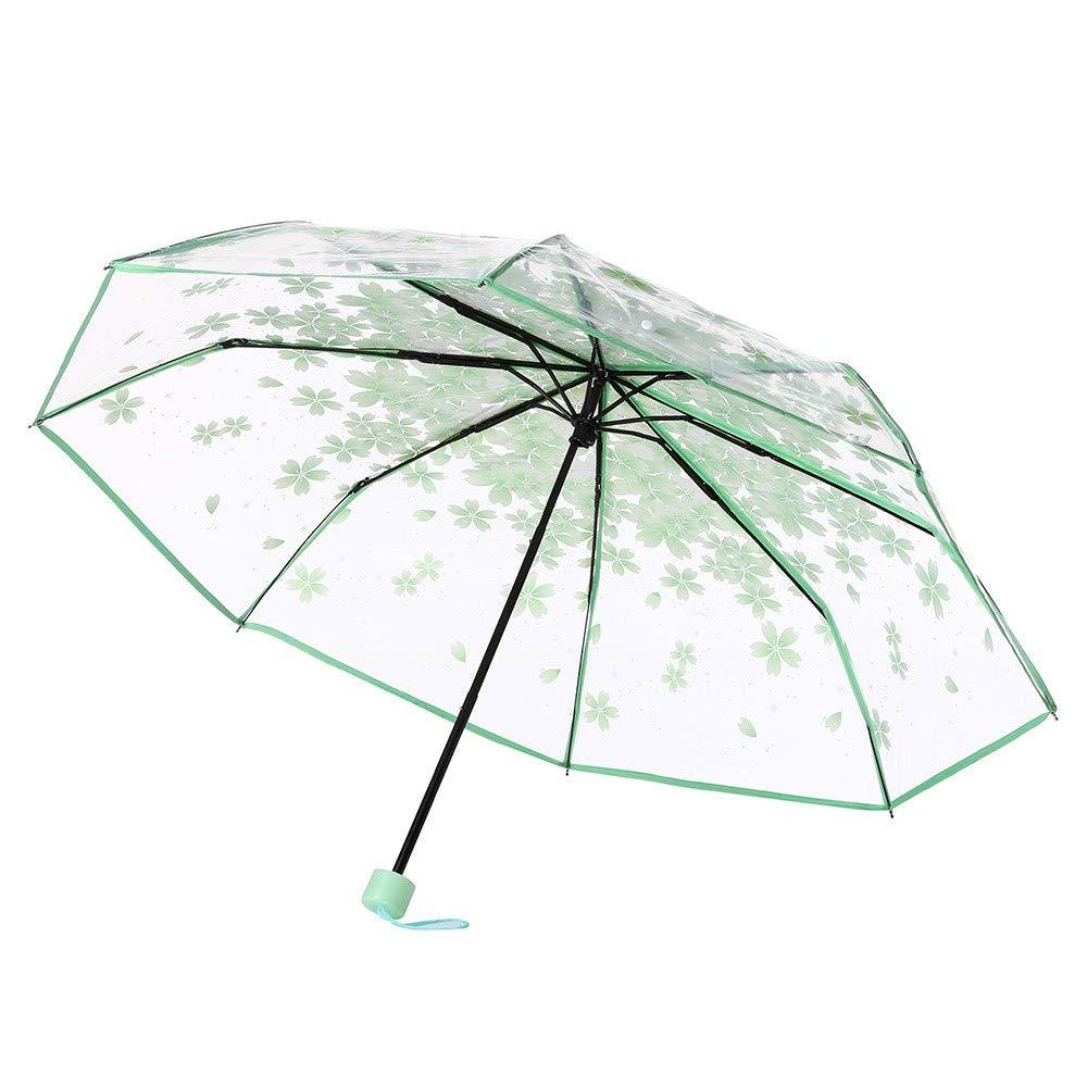 52f4a910be27 Amazon.com : SMSHNJH Nice Weatherproof Umbrella Transparent Clear ...