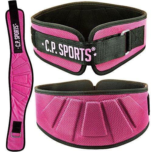 CP Sports Profi-Ultraleichtgürtel Farbe: Pink - Damen / Frauen Trainingsgürtel - Fitness Gewichthebergürtel (S-1)